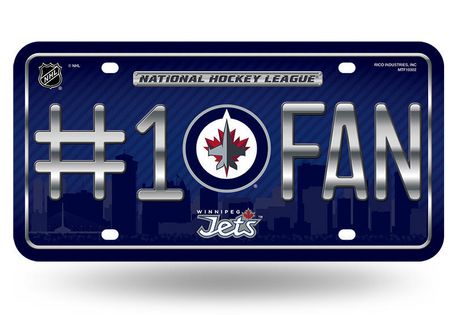 GTEI NHL Winnipeg Jets Licence Plate - image 1 of 1