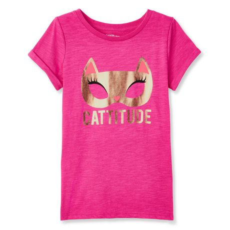 8ffeafd4c George Girls' short Sleeve Graphic T-Shirt - image 1 of 2 ...