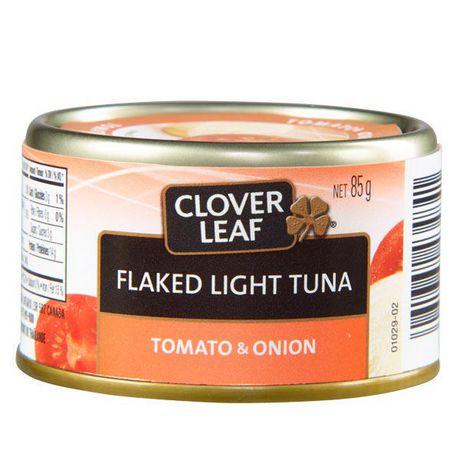Thon pâle émietté CLOVER LEAF® - tomate et oignon - image 1 de 3