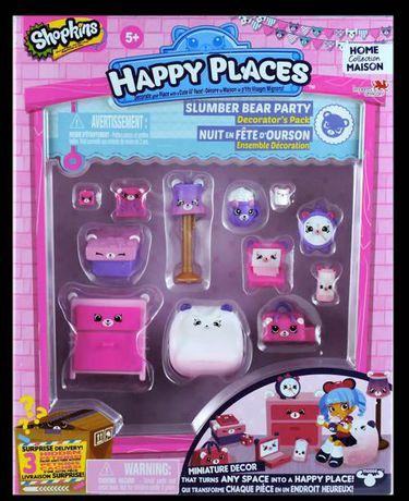 Shopkins Happy Places Ensemble de Décoration Nuit en Fête d'ourson - image 1 de 1