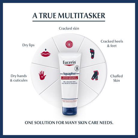 Eucerin Aquaphor Healing Ointment, Moisturizing Ointment for Use After Hand Sanitizer or Hand Soap - image 3 of 7