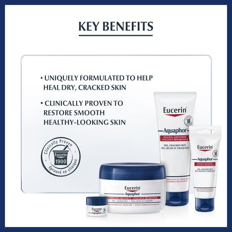 Eucerin Aquaphor Healing Ointment, Moisturizing Ointment for Use After Hand Sanitizer or Hand Soap - image 5 of 7