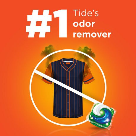 Tide PODS plus Febreze, Sport Odor Defense Laundry Pacs, ACTIVE Fresh Scent, 23 Count, Designed for Regular And HE Washers - image 6 of 8