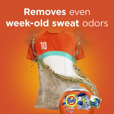 Tide PODS plus Febreze, Sport Odor Defense Laundry Pacs, ACTIVE Fresh Scent, 23 Count, Designed for Regular And HE Washers - image 7 of 8