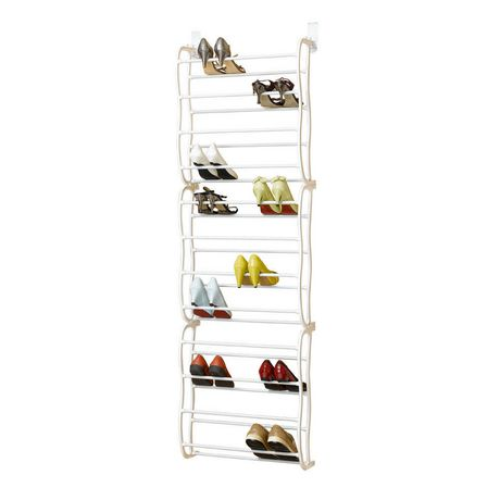 mainstays 36 pair over the door shoe rack - Over The Door Shoe Rack
