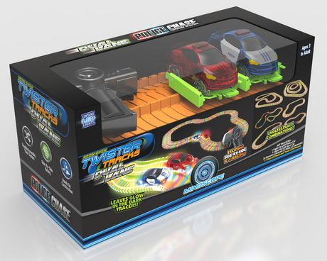 Ens. voitures de poursuite policière Twister Tracks de Mindscope avec 2 voies - image 1 de 1
