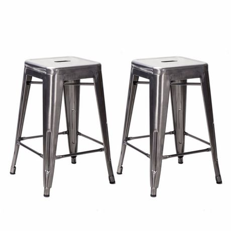 Amazing Nicer Furniture Tolix Gunmetal Counter Stool Walmart Canada Andrewgaddart Wooden Chair Designs For Living Room Andrewgaddartcom
