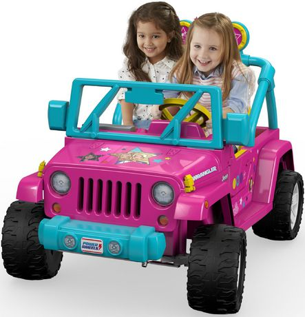 Power Wheels Barbie Jeep Wrangler Pink/ Blue