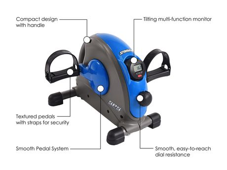 Stamina Mini Exercise Bike with Smooth Pedal System - image 4 of 8