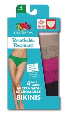 20d2eede075 Fruit of the Loom Ladies' Breathable Bikinis, 4-Pack - image 4 of ...