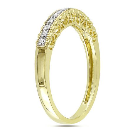 Miabella Fashion Ring with Diamond Accents in 10 K Yellow Gold - image 2 of 2