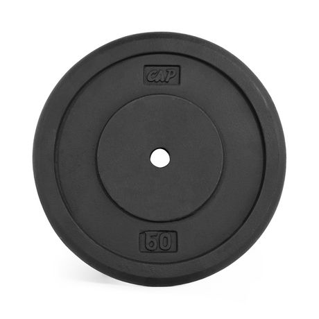 CAP Barbell 1-Inch Cast Iron Weight Plate, Black, Single, 50 Lbs - image 1 of 1