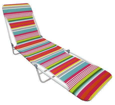 chaise longue de plage pliante mainstays walmart canada. Black Bedroom Furniture Sets. Home Design Ideas
