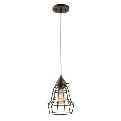caged lighting. globe electric 1light oil rubbed bronze vintage caged pendant lighting i