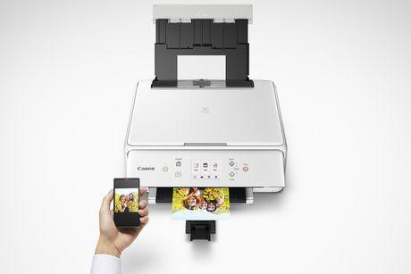 Canon Imprimante à jet d'encre sans fil tout-en-un PIXMA TS6120, blanc - image 2 de 2