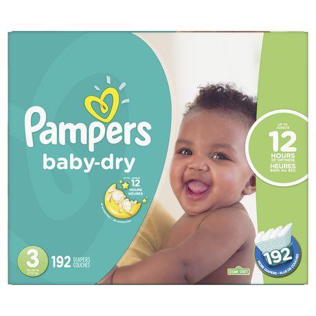 PAMPERS COUCHES BABY DRY - FORMAT ÉCONOMIQUE PLUS - image 1 de 4