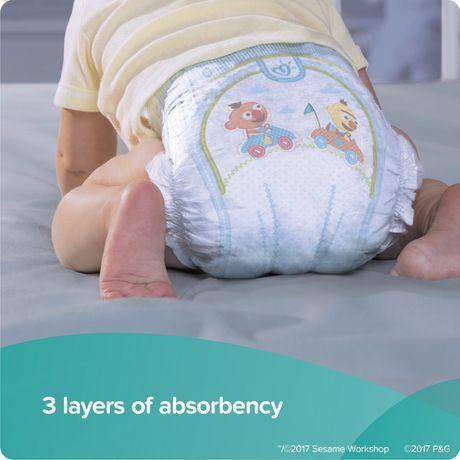PAMPERS COUCHES BABY DRY - FORMAT ÉCONOMIQUE PLUS - image 2 de 4