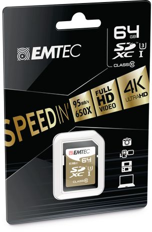 Emtec CL10 U3 64 GB SD SpeedIN' Card - image 2 of 2