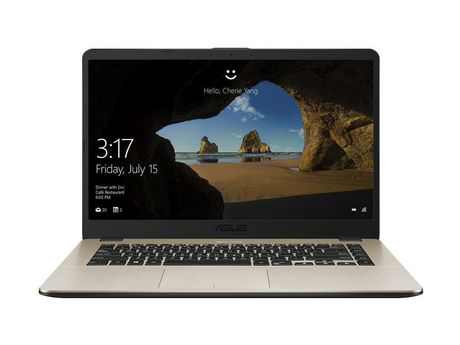 "Asus VivoBook 15.6"" Laptop,Gold Metal,AMD Dual-Core R3-2200U,AMD Radeon Vega 3 Graphics,6GB DDR4,1TB SSHD ,Windows10,F505ZA-DB31 - image 1 of 1"