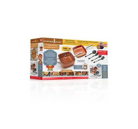 Boxed 10-piece cookware set from Copper Chef