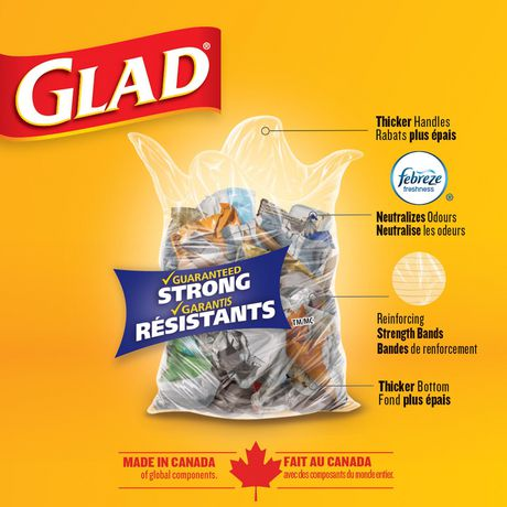 Glad Clear Garbage Bags - Regular 74 Litres - 10 Trash Bags - image 3 of 6