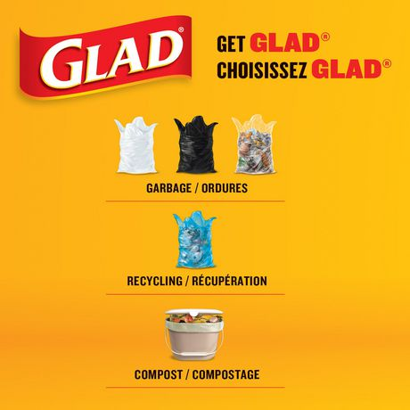 Glad Clear Garbage Bags - Regular 74 Litres - 10 Trash Bags - image 5 of 6