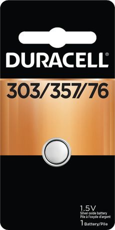 Duracell 303/357 Silver Oxide Watch/Electronic Button Battery, 1 Pack - image 1 of 5