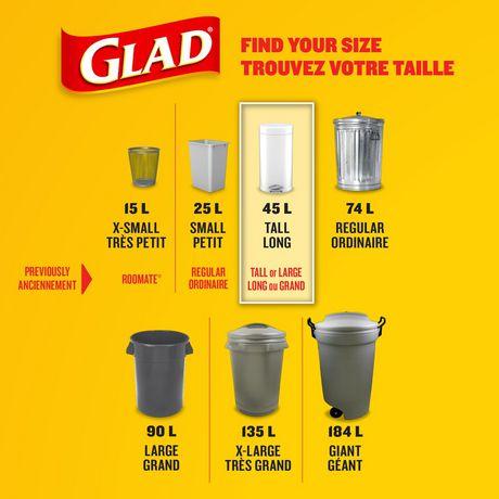 Glad White Garbage Bags Tall 45 Litres Febreze Fresh