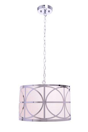 Hometrends 16 inch chrome lattice drum pendant light walmart canada aloadofball Image collections