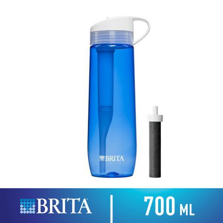 9c9098ea41 Brita Hard Sided Water Filter Bottle with 1 Replacement Filter, Blue, 700ml  - image ...