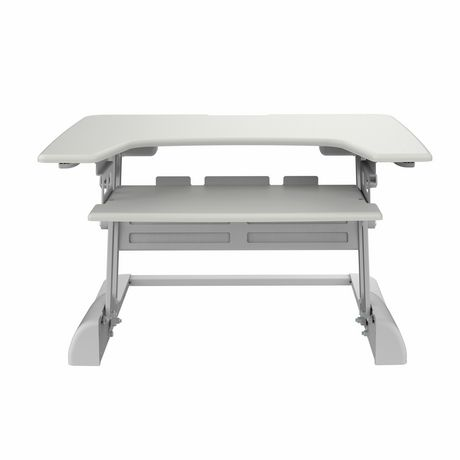 TygerClaw TYDS14014 Sit-Stand Desktop Workstation White Stand - image 3 of 6