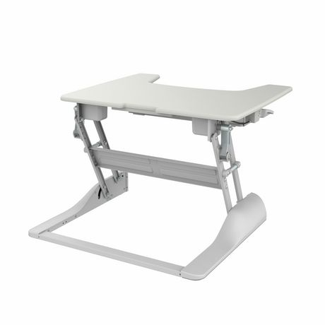TygerClaw TYDS14014 Sit-Stand Desktop Workstation White Stand - image 5 of 6