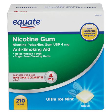 Equate Nicotine Gum Ultra Ice Mint 4mg 210ct - image 1 of 1