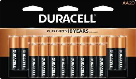 Duracell 1.5V Coppertop Alkaline, AA Batteries, 20 Pack - image 1 of 7