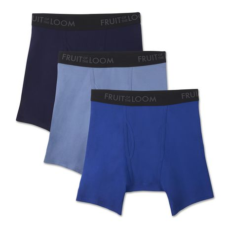 Fruit of the Loom Men s Breathable Boxer Briefs - Pack of 3 ... ab3581cd87253