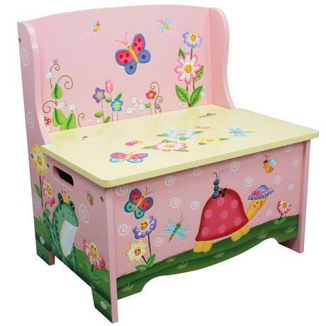 banc de rangement pour enfants jardin magique de fantasy. Black Bedroom Furniture Sets. Home Design Ideas