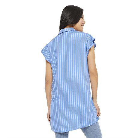 George Women's Ruffle Sleeve Shirt Dress - image 3 of 6