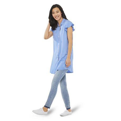 George Women's Ruffle Sleeve Shirt Dress - image 5 of 6