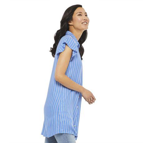 George Women's Ruffle Sleeve Shirt Dress - image 2 of 6