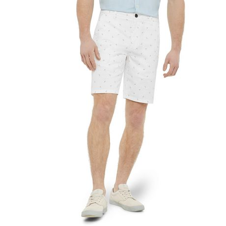 George Men's Printed Flat Front Chino Shorts - image 1 of 6