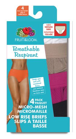946b531a4611 Fruit of the Loom Ladies' Breathable Low Rise Briefs, 4-Pack - image ...
