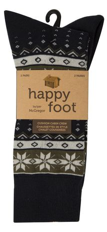 Happy Foot 2 Pair Cushion Fair Isle Crew - image 3 of 3