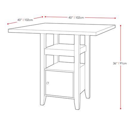 Superieur Table De Salle Manger Bistro Corliving Hauteur De Idees Etonnantes