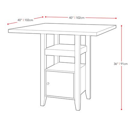 corliving bistro cappuccino counter height dining table