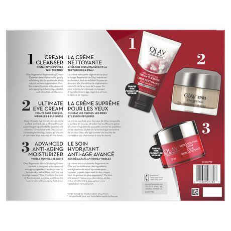 Olay Regenerist Regenerating Cream Cleanser, Ultimate Eye Cream & Micro-Sculpting Cream Gift Pack - image 2 of 2