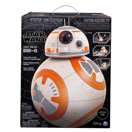 SpinMaster Actual Size BB-8! Disney Star Wars Hero Droid BB-8 New In Box