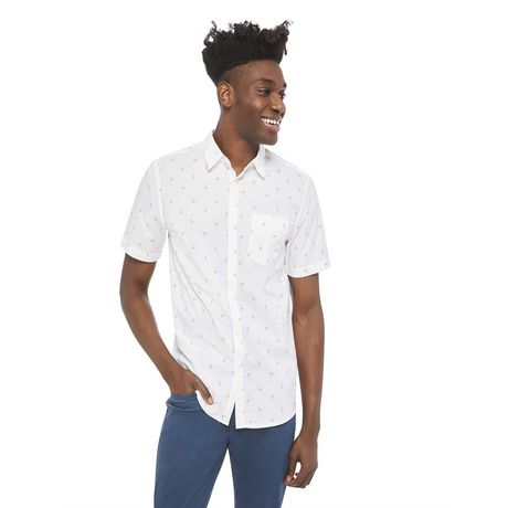 George Men's Printed Cuffed Shirt - image 1 of 6
