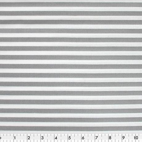 Tissu au mètre - Popeline de coton Fabric Creations - Bande gris - image 1 de 1