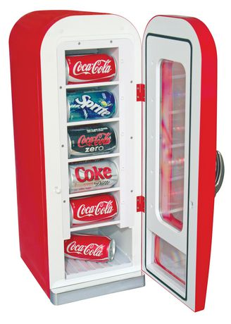 Coca-Cola 10 Can AC/DC Retro Vending Electric Cooler (0.64 Cubic Foot/18 Liters) - image 2 of 2