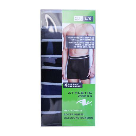 521773707e2b8e Athletic Works Men's Underwear 4-Pack Boxer Briefs | Walmart Canada